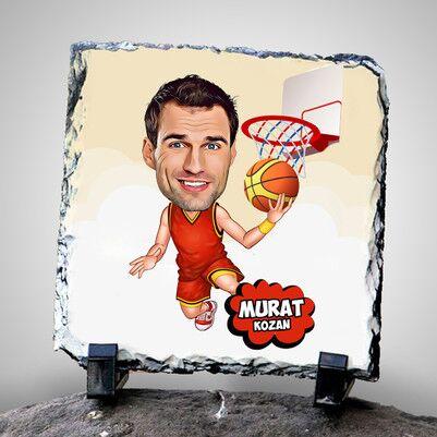 - Basketbolcu Karikatürlü Dekoratif Taş