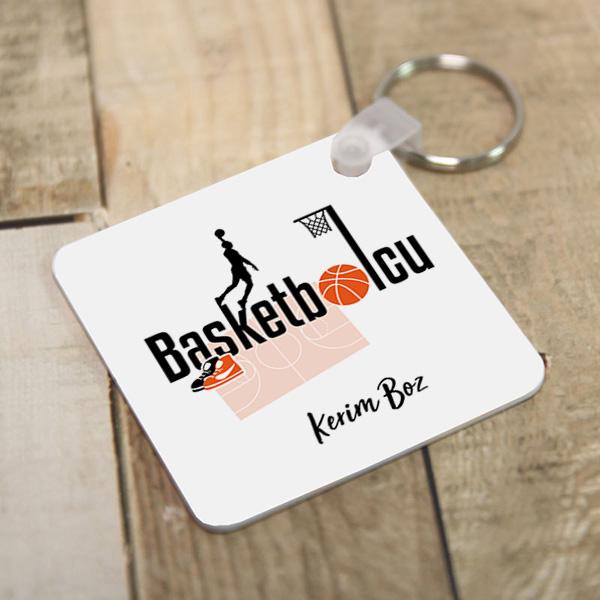 Basketbolculara Özel Kare Anahtarlık