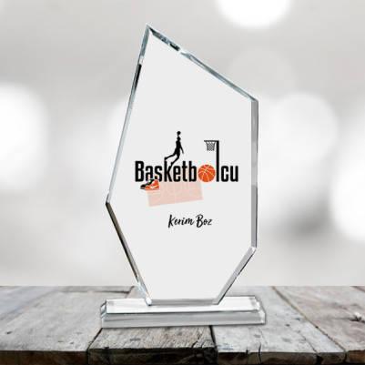 Basketbolculara Özel Kristal Cam Ödül