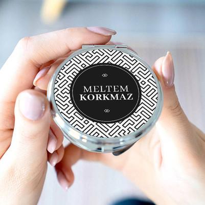 Bayan Arkadaşa Hediye Cep Aynası - Thumbnail