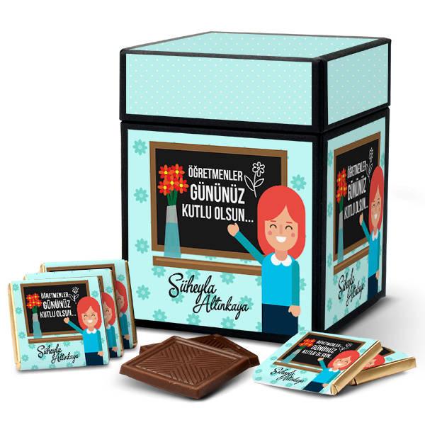 Bayan Öğretmene Hediye Çikolata Kutusu