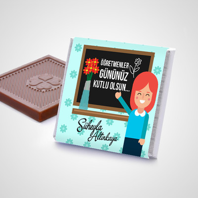 Bayan Öğretmene Hediye Çikolata Kutusu - Thumbnail