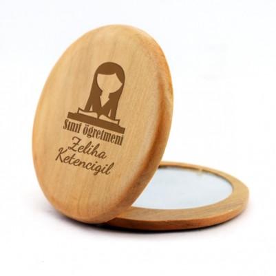 Bayan Öğretmene Hediye Makyaj Aynası - Thumbnail