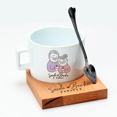 Bayan Sevgiliye Hediye Çay Fincanı - Thumbnail