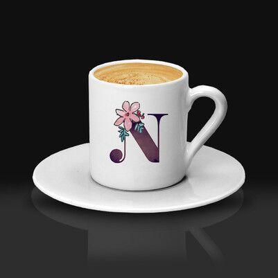 - Bayan Sevgiliye Özel Harfli Kahve Fincanı