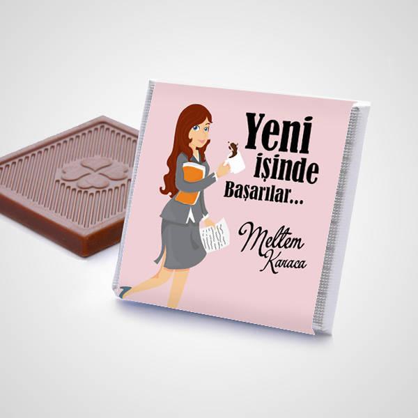 Bayana Yeni İşinde Başarılar Dilerim Çikolatası