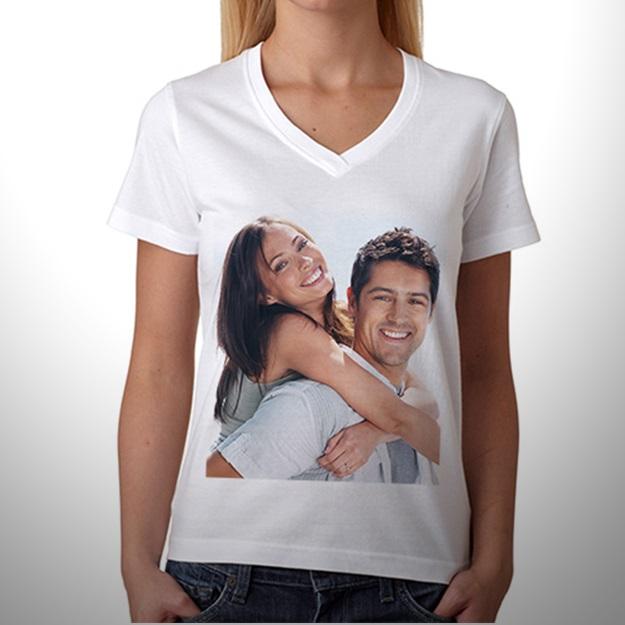 Bayanlar İçin Kişiye Özel Fotoğraf Baskılı Tişört