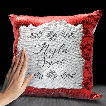 - Bayanlara İsme Özel Sihirli Yastık