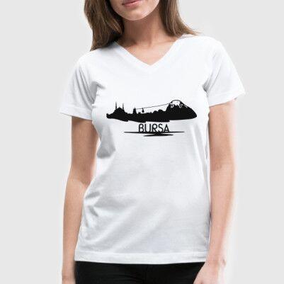 - Bayanlara Özel Bursa Silueti Tişört