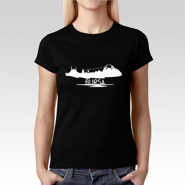 Bayanlara Özel Bursa Silueti Tişört