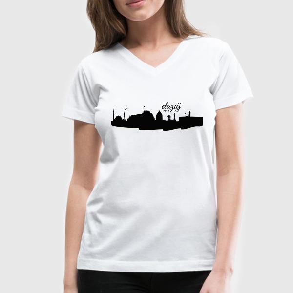 Bayanlara Özel Elazığ Silueti Tişört