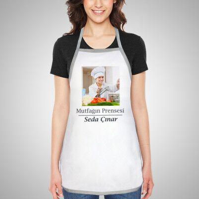 - Bayanlara Özel Fotoğraflı Mutfak Önlüğü