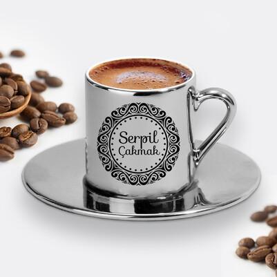 - Bayanlara Özel Gümüş Renk Kahve Fincanı