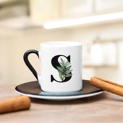 Bayanlara Özel Harfli Kahve Fincanı - Thumbnail