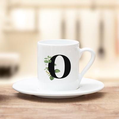 - Bayanlara Özel Harfli Kahve Fincanı