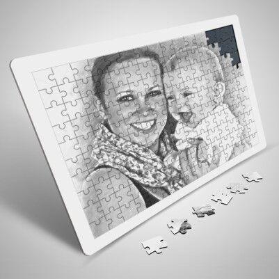 Bayanlara Özel Karakalem Efektli Puzzle - Thumbnail