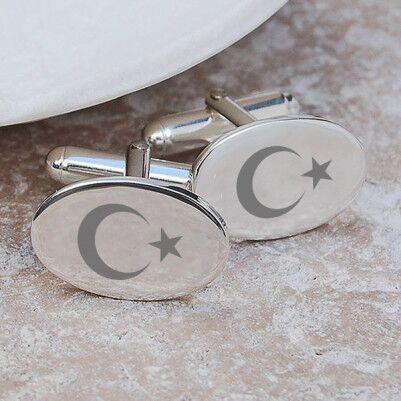 - Bayrak Tasarımlı Gömlek Kol Düğmeleri