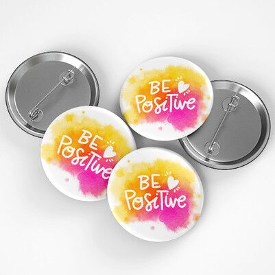 Be Positive Buton Rozet - Thumbnail