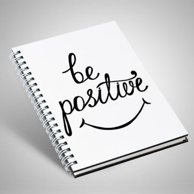- Be Positive Temalı Motto Defter