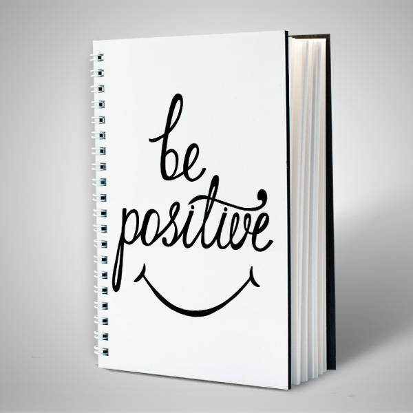 Be Positive Temalı Motto Defter