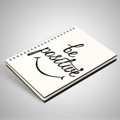Be Positive Temalı Motto Defter - Thumbnail