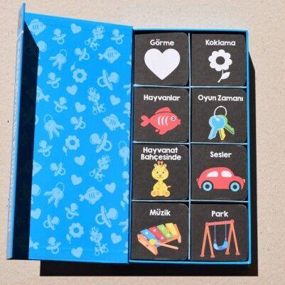 Bebeğimin İlk Kütüphanesi Kitabı Mavi - Thumbnail