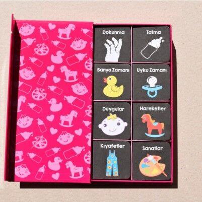 Bebeğimin İlk Kütüphanesi Kitabı -PEMBE - Thumbnail