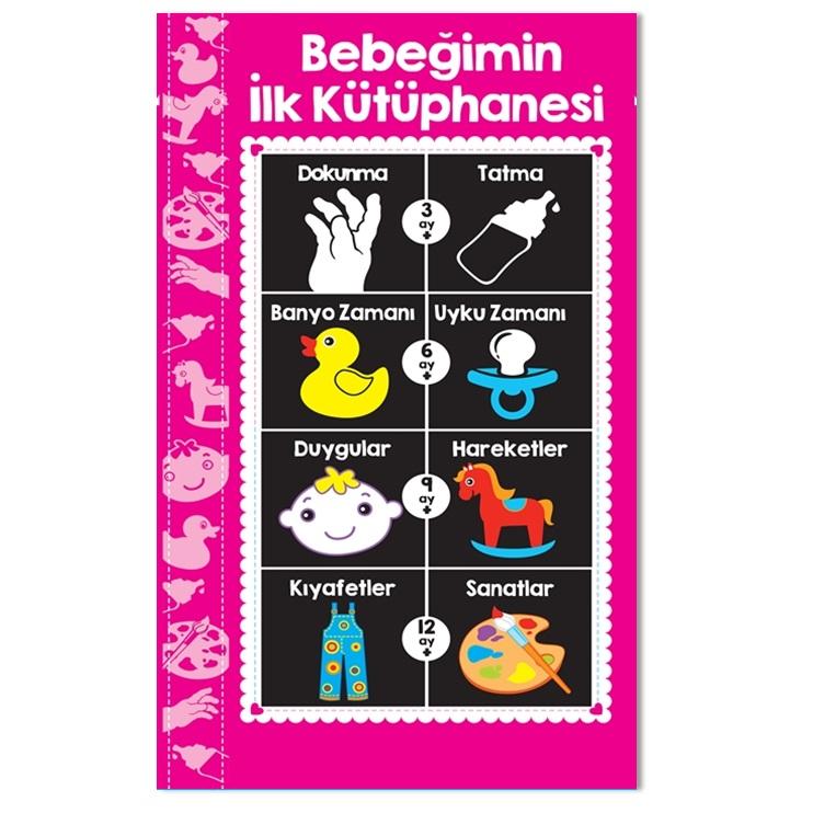 Bebeğimin İlk Kütüphanesi Kitabı -PEMBE