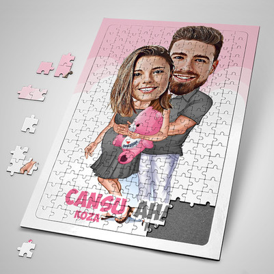- Bebeğimizi Beklerken Karikatürlü Puzzle