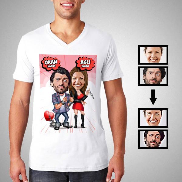 Ben Sana Mahkum Karikatürlü Tişört