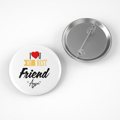 Best Friend İsme Özel Buton Rozet - Thumbnail