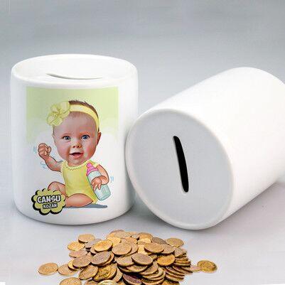 - Biberonlu Bebek Karikatürlü Kumbara
