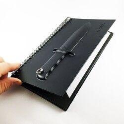 Bıçak Kabartmalı Not Defteri - Thumbnail