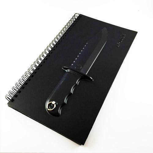 Bıçak Kabartmalı Not Defteri