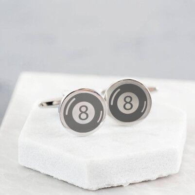 - Bilardo Topu Tasarımlı Kol Düğmesi