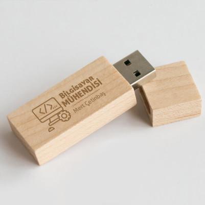 - Bilgisayar Mühendisine Hediye Ahşap USB Bellek