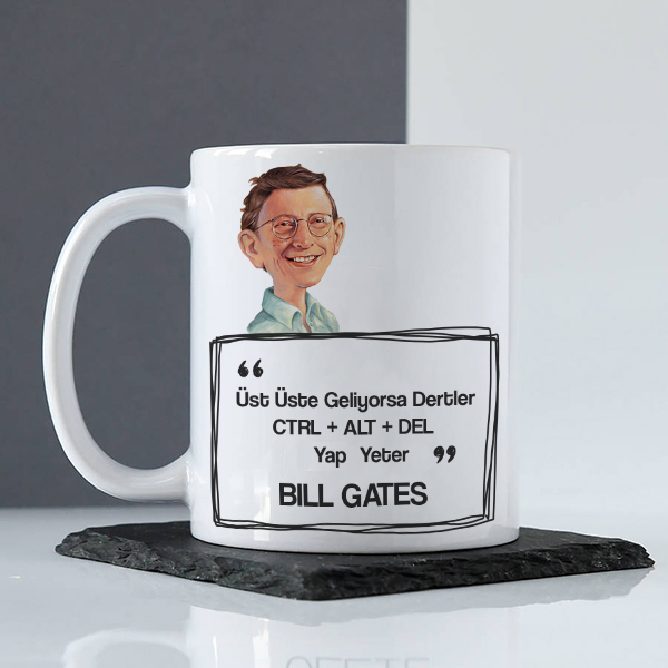 Bill Gates Esprili Kupa Bardak