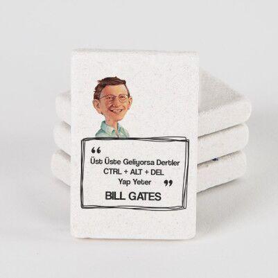 - Bill Gates Esprili Taş Buzdolabı Magneti