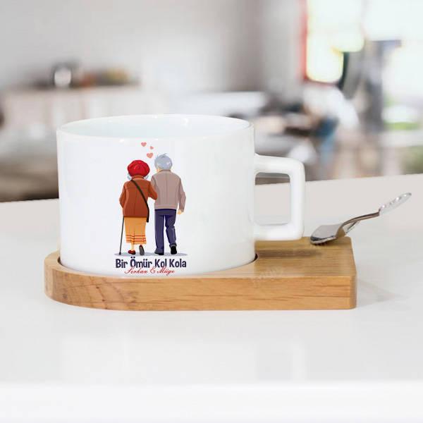 Bir Ömür Kol Kola Lüks Çay Fincanı