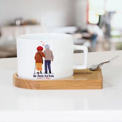 - Bir Ömür Kol Kola Lüks Çay Fincanı