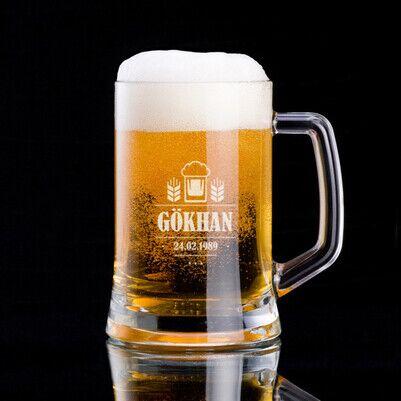 - Bira Severlere Özel İsimli Bira Bardağı