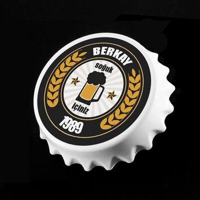 - Bira Tasarımlı İsme Özel Şişe Açacağı