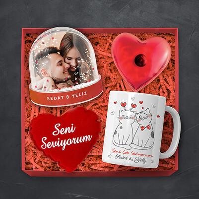 - Birbirini Seven Aşıklar Konsept Hediye Kutusu
