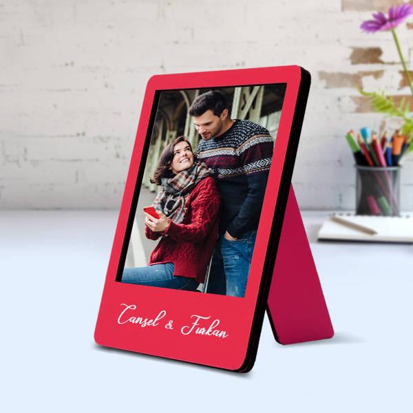 Biricik Aşkım Ahşap Polaroid Çerçeve