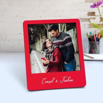 Biricik Aşkım Ahşap Polaroid Çerçeve - Thumbnail