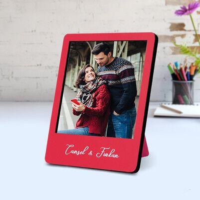 - Biricik Aşkım Ahşap Polaroid Çerçeve