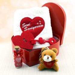 Biricik Aşkım Kalp Hediye Kutusu - Thumbnail