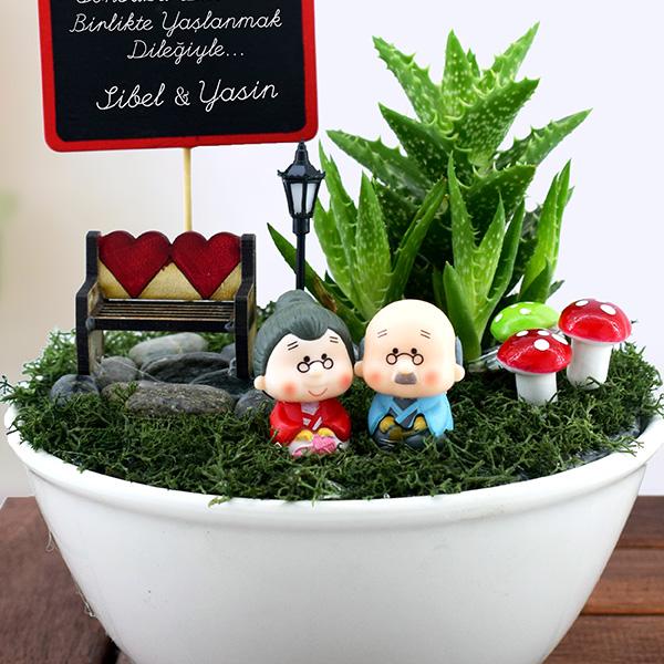Birlikte Yaşlanalım Minyatür Aşk Bahçesi