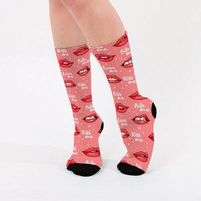 - Bite Me Tasarımlı Bayan Çorabı