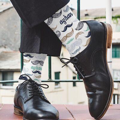 - Bıyık Tasarımlı İsme Özel Erkek Çorabı